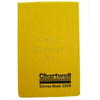 Chartwell Survey Book 2206Z (106 x 165mm) - Weather Resistant - Horizontal Lines with two Red Vertical Lines in center of page