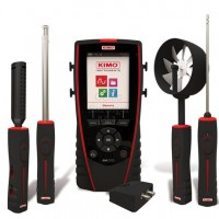 Kimo AMI 310 CLA: Portable instrument supplied with an ABS hygrometry probe, a hotwire probe and a ∅70 mm vane probe