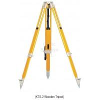 """KTS-2 Wooden Tripod - Heavy Duty, Twist Lock, Flat Head, 5/8"""""""