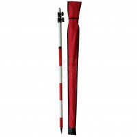 """CSLDRT3 Prism Pole 3.6m, 5/8"""", Screw Clamp, Circular bubble, 5/8"""" Screw thread  and Case. Red and white markings, Heavy Duty"""